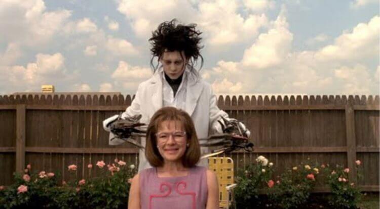 《剪刀手愛德華》強尼戴普與黛安薇絲特。