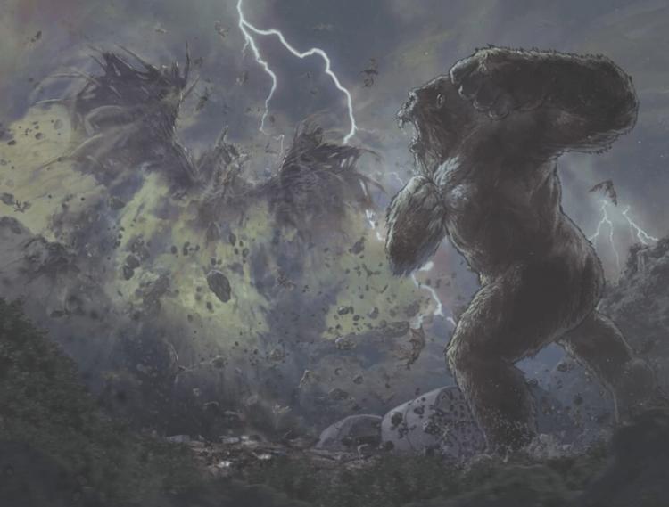 《哥吉拉大戰金剛》官方小說和 Kingdom Kong 漫畫場景01