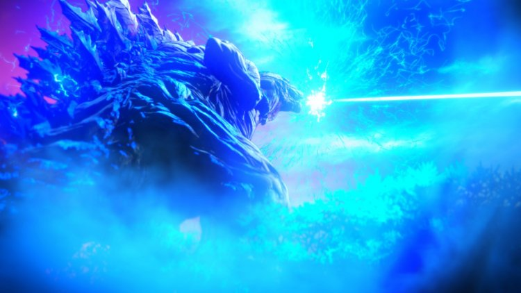 動畫電影三部曲之《哥吉拉:怪獸惑星》電影劇照。