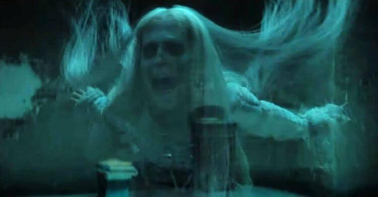 《在黑暗中說的鬼故事》預告片中可見到與原著「鬼屋」相符的冤魂樣貌。