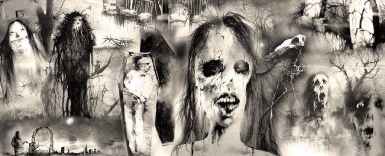 《在黑暗中說的鬼故事》(Scary Stories to Tell in the Dark) 插圖。