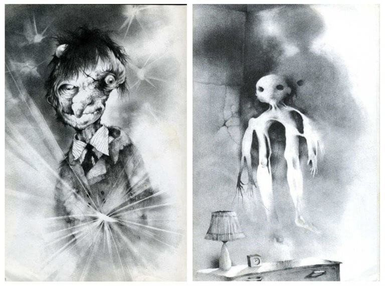 禁書-在黑暗中說的鬼故事-恐怖童書-插圖-5-6
