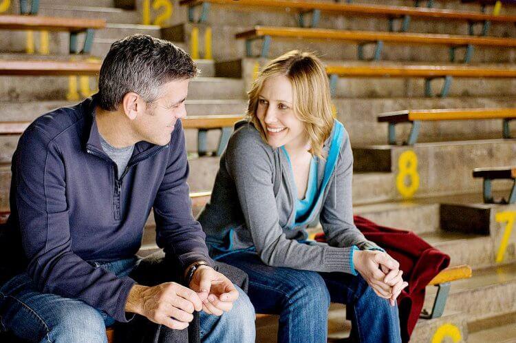 《型男飛行日誌》喬治克隆尼(左)與薇拉法蜜嘉(右)。