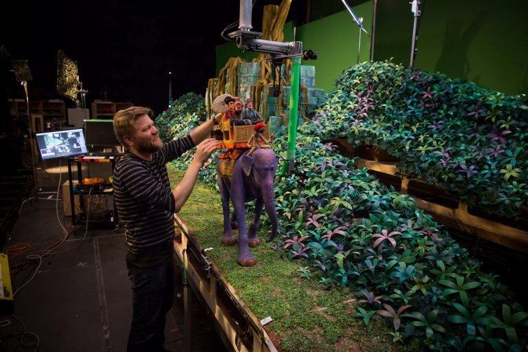 萊卡工作室定格動畫電影《大冒險家》片中約 20 秒的騎大象畫面,需費時 3 個月才完成。