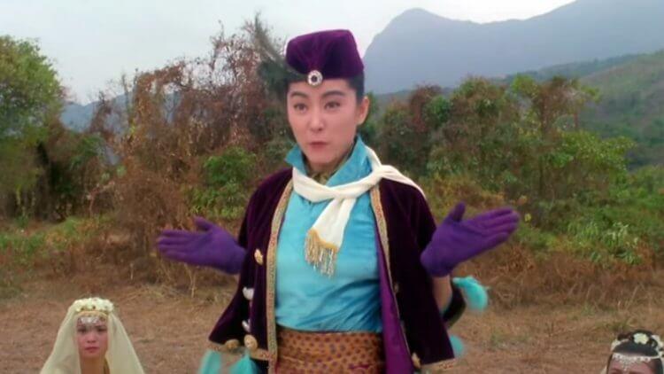 《射鵰英雄傳之東成西就》林青霞。