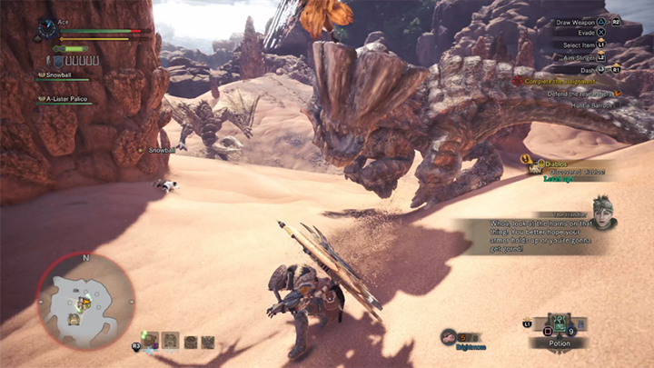 《 魔物獵人 》 遊戲畫面 。