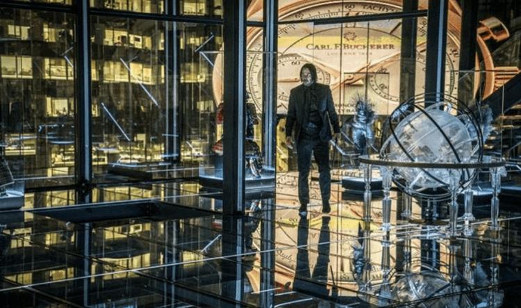 《捍衛任務》大陸酒店:玻璃室。