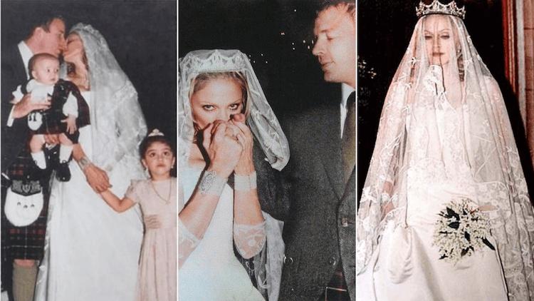 瑪丹娜與蓋瑞奇當年的婚禮。