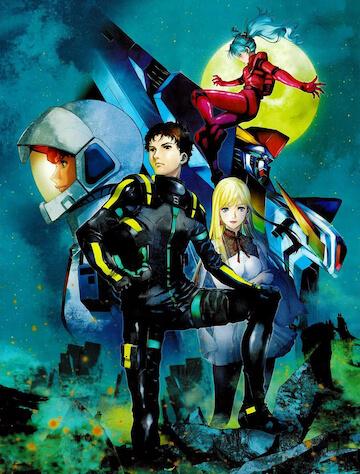 《機動戰士鋼彈:閃光的哈薩威》:美樹本晴彥為小說版繪製的哈薩威與琪琪原始人設。