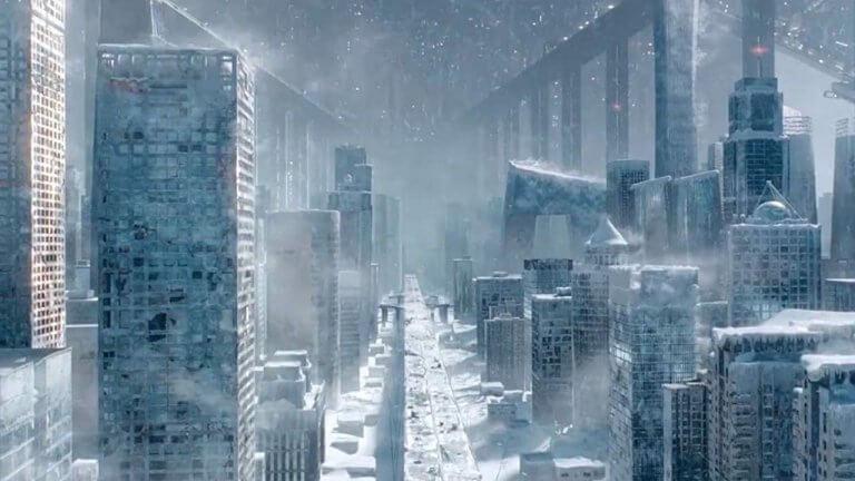 中國科幻電影《流浪地球》中的未來,人類將地球送往另一宜居星系求得生機。