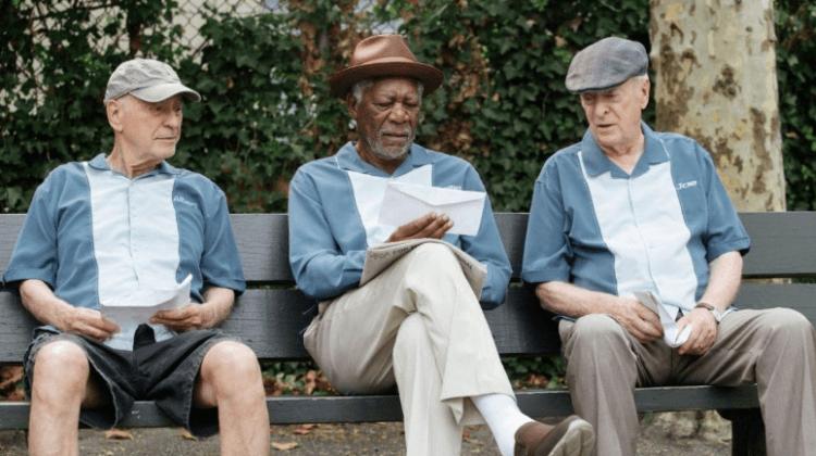 米高肯恩(Michael Caine)、摩根費里曼 (Morgan Freeman) 與亞倫阿金 (Alan Arkin) 共演電影《瀟灑搶一回》。