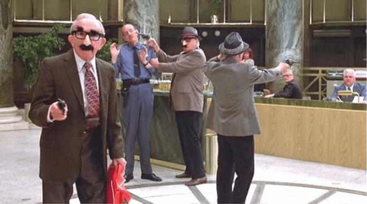 1979 年電影《三個老槍手》,故事背後是對社會制度的諷刺與無奈的反抗。