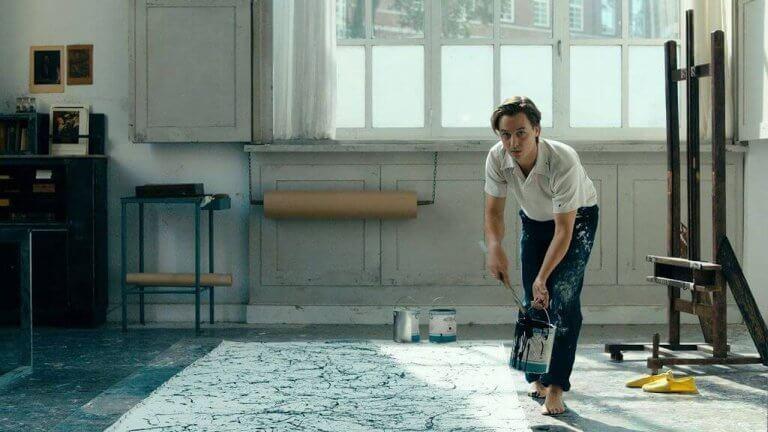 湯姆希林在《無主之作》中飾演以葛哈李希特為原型的男主角寇特。