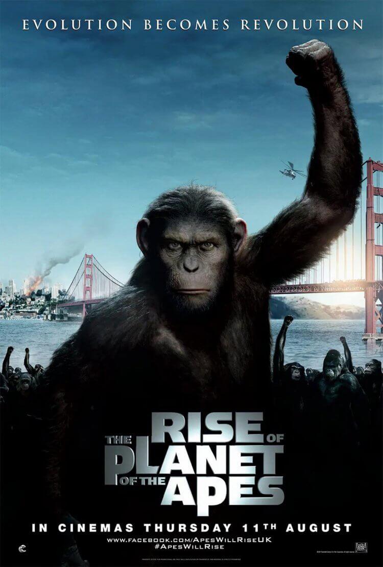 《猩球崛起》官方海報。