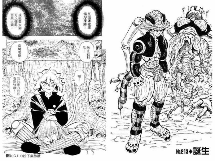 《獵人 HUNTER×HUNTER》漫畫中的「嵌合蟻篇」。
