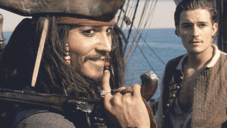 《神鬼奇航》強尼戴普與奧蘭多布魯。