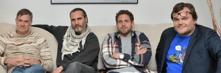《 笑畫人生 》團隊 : 葛斯范桑 (左) 瓦昆 (左二) 強納希爾 (右二) 傑克布萊克 (右)。