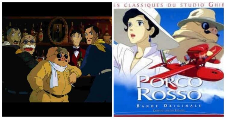 宮崎駿執導,吉卜力動畫電影《紅豬》中似乎能看到不少《北非諜影》的影子。