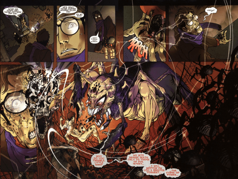 漫畫中的「暗影蜘蛛人」:濃濃黑色電影風格的彼得帕克。