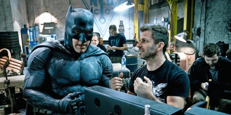 查克史奈德與他執導之下的《蝙蝠俠》電影。