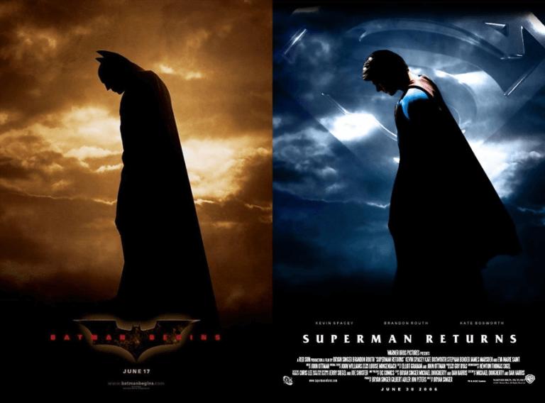 電影《蝙蝠俠:開戰時刻》與《超人再起》。