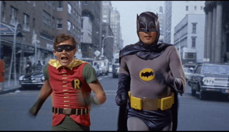 1966 年,由亞當威斯特所主演的影集版《蝙蝠俠》。