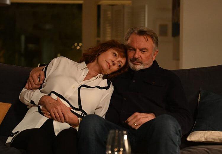 《說不出的告別》蘇珊莎蘭登與山姆尼爾。