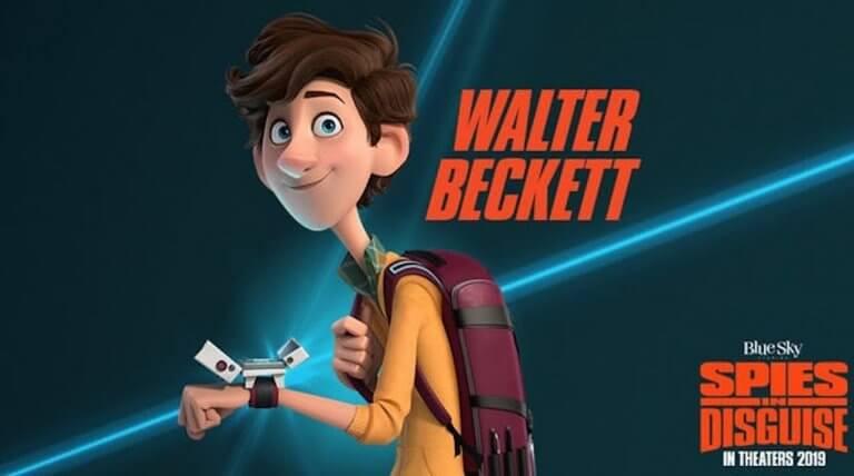 湯姆霍蘭德配音演出《變身特務》的華特貝克特。
