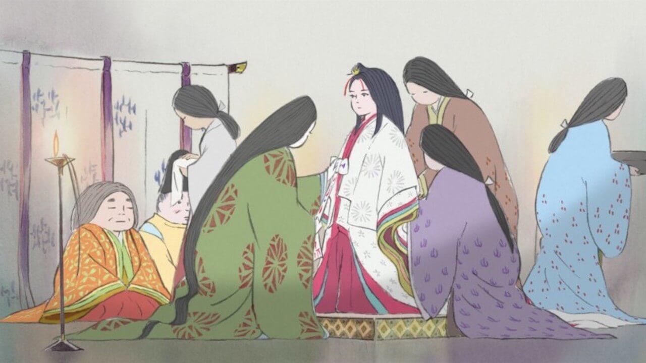 高畑勳監督,吉卜力工作室動畫電影《輝耀姬物語》。