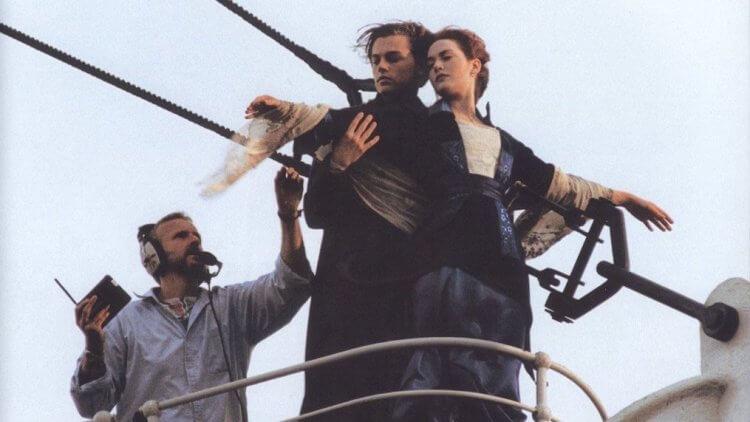 《鐵達尼號》片場。