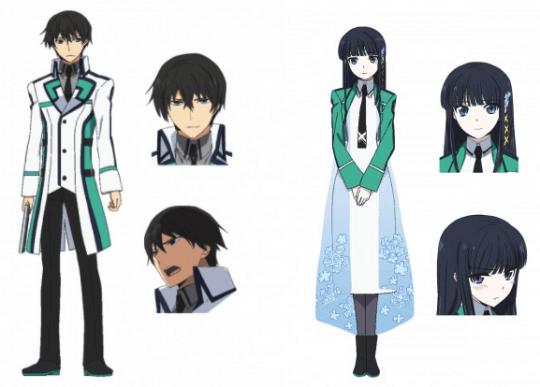 《魔法科高中的劣等生》主角司波達也、司波深雪兄妹。
