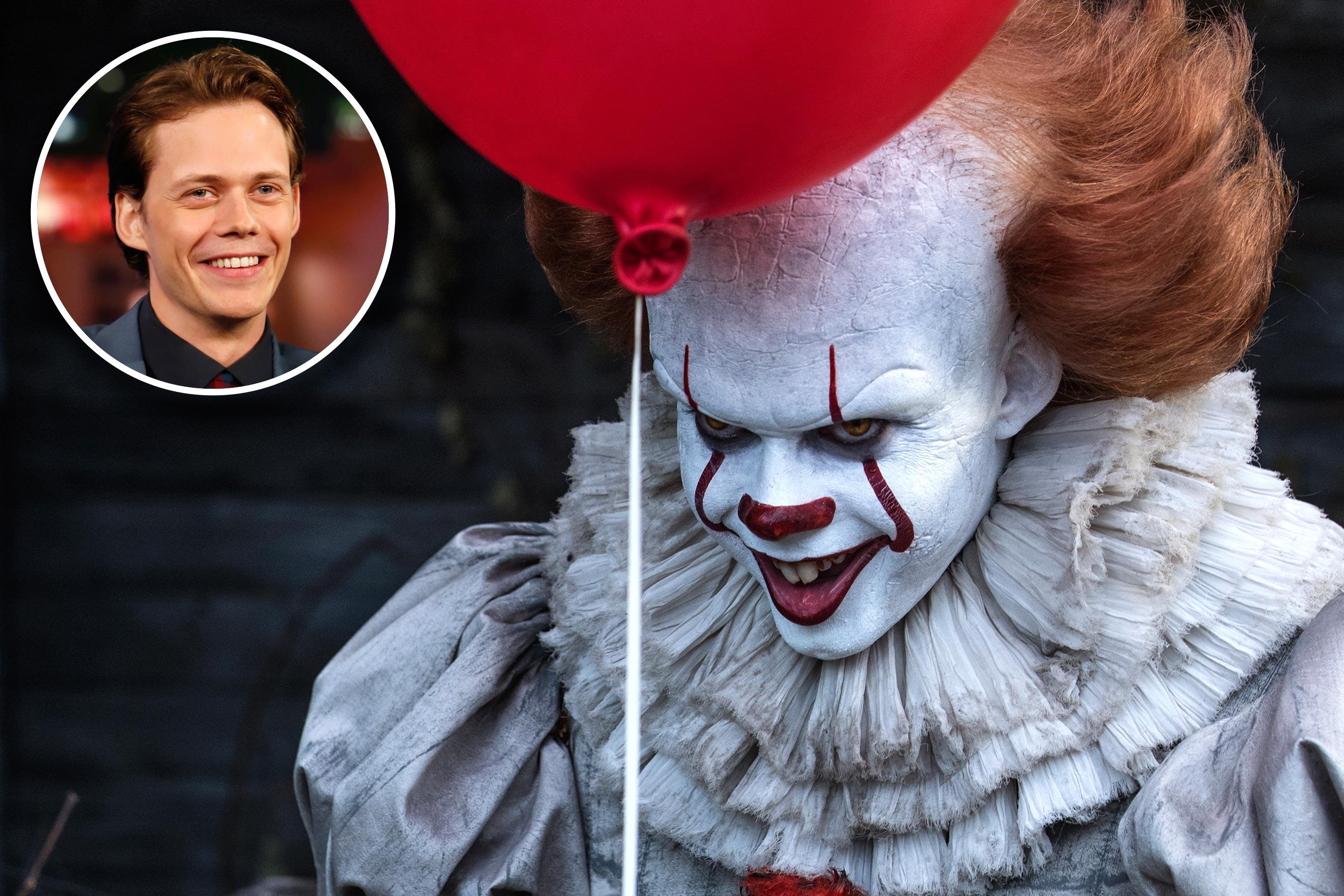 《 牠:第二章 》開拍!飾演「 小丑 」的 比爾史柯斯嘉 。