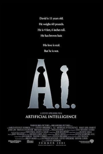 《A.I.人工智慧》電影海報。