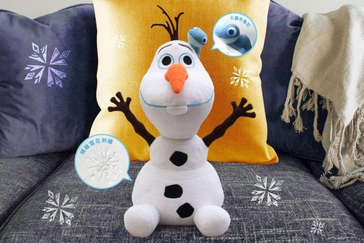 《冰雪奇緣 2》全新角色「火靈布魯尼」也加入雪寶的可愛行列,相關周邊限量在台上市。