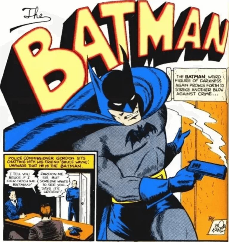 蝙蝠俠在肯恩所繪製的漫畫中,並沒有「露點」。