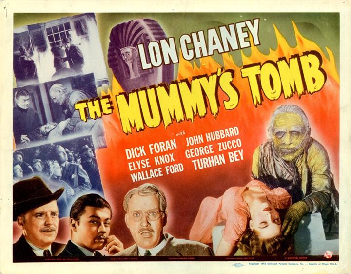 1942年《 木乃伊墳墓 》 電影海報 。