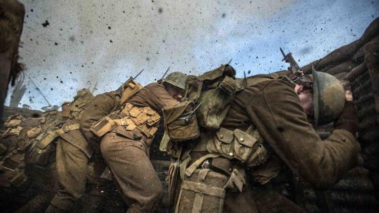 英國一戰記念電影《決戰最前線》劇照。