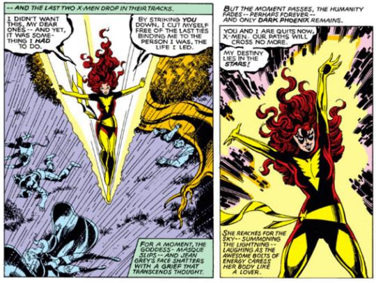 當超能暴走,英雄黑化,琴葛雷再也無法控制自己的變種人能力了。