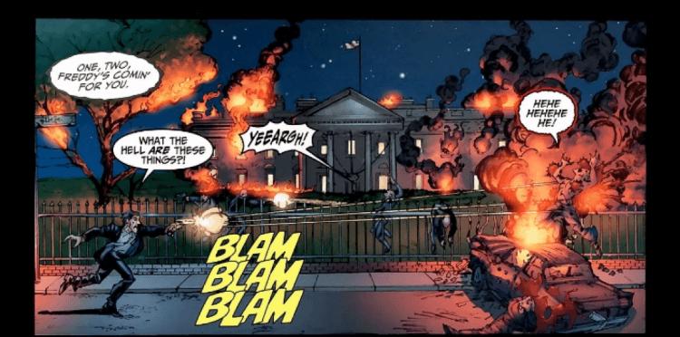傑夫卡茲擔任編劇製作的漫畫《佛萊迪 vs. 傑森 vs. 艾許:惡夢戰士》讓影壇三大殺人魔與各種電影哏集結在華府「大顯身手」。
