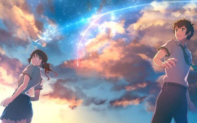 日本動畫電影《你的名字》。