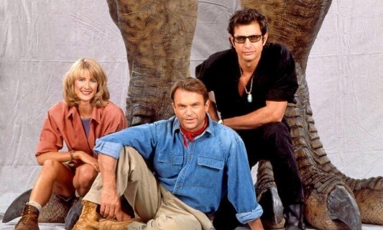 《侏羅紀公園》系列班底山姆尼爾、傑夫高布倫以及蘿拉鄧恩。