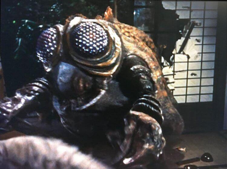 昭和哥吉拉電影《空之大怪獸拉頓》裡的複眼怪獸美加奴隆,延伸出「新世紀哥吉拉」電影《哥吉拉 × 美加基拉斯 G 消滅作戰》中的敵方怪獸美加基拉斯。