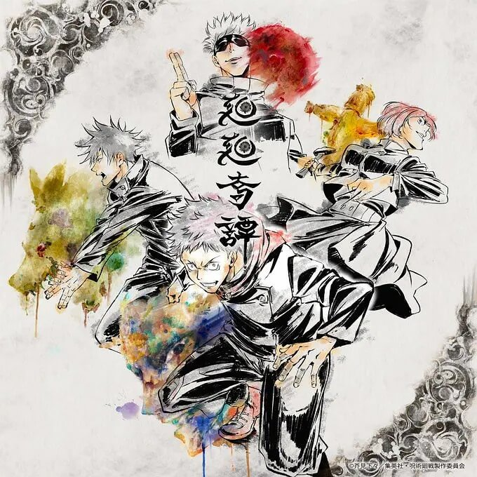 動畫導演朴性厚繪製的片頭曲《迴迴奇譚》單曲封面。