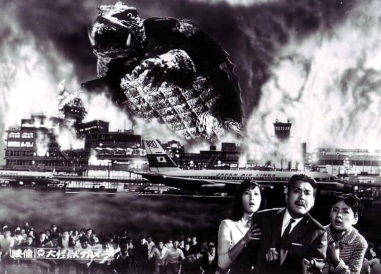 大映電影 1965 怪獸片《大怪獸卡美拉》劇照。
