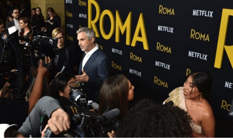網飛 Netflix 製作發行,艾方索柯朗導演電影《羅馬》洛杉磯首映會現場。