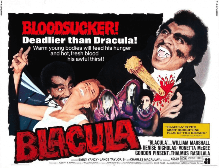 當年的黑人武打電影充斥太多黑人剝削題材,《黑古拉》(Blacula) 為其中一例。