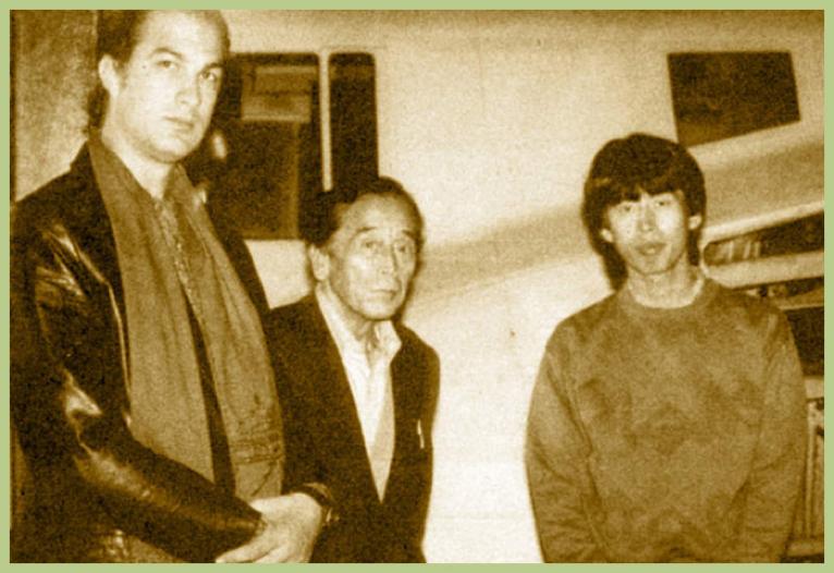 史蒂芬席格 席格(左)與大弟子松岡春夫(右)