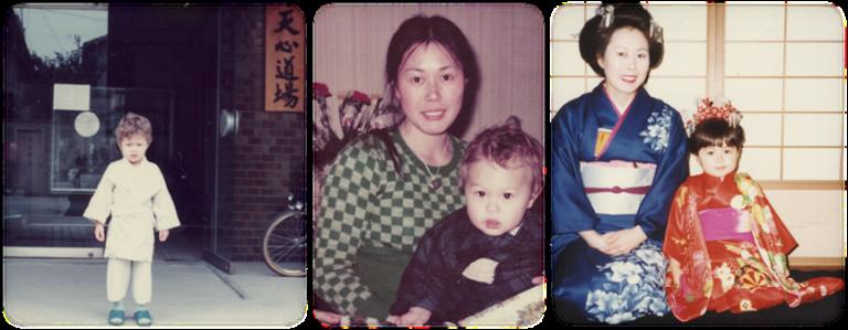 史蒂芬席格: 美也子與兒女的照片