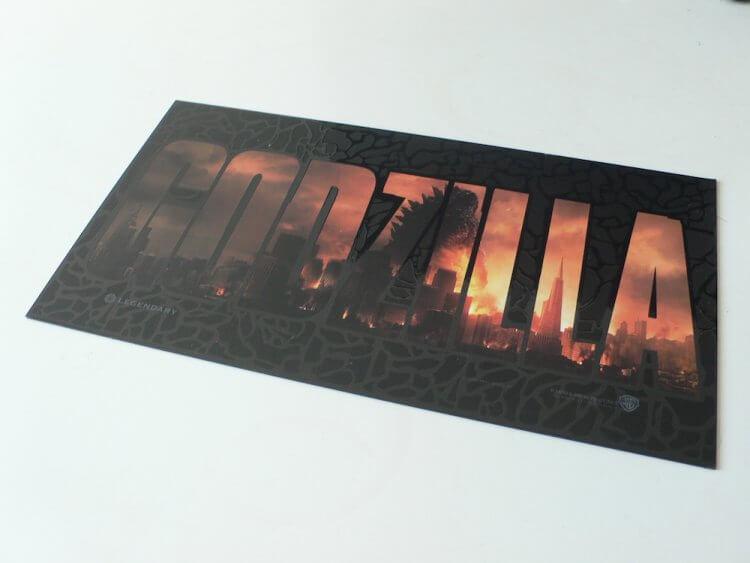 2014 年《哥吉拉》首映會票券。