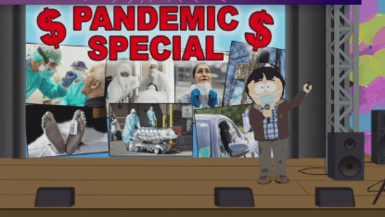 阿ㄆㄧㄚˇ拒戴口罩,校園大亂! 《南方四賤客》特別節目針對「肺炎疫情」亂象大開嘲諷首圖